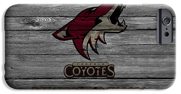 Coyote iPhone Cases - Phoenix Coyotes iPhone Case by Joe Hamilton