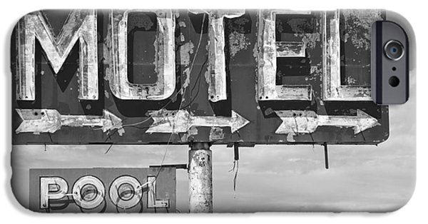 Lodes iPhone Cases - Route 66 Highway Signs Motels Gas Stations and Art Deco Architec iPhone Case by ELITE IMAGE photography By Chad McDermott