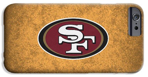 49ers iPhone Cases - San Francisco 49ers iPhone Case by Joe Hamilton
