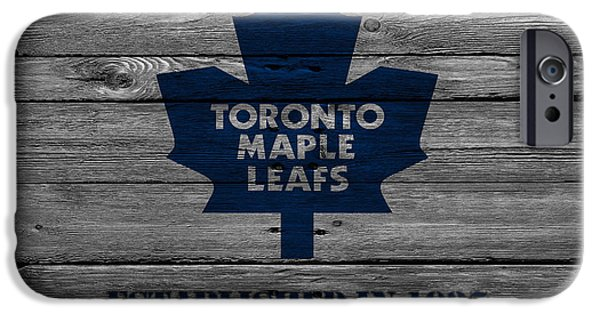 Recently Sold -  - Snow iPhone Cases - Toronto Maple Leafs iPhone Case by Joe Hamilton