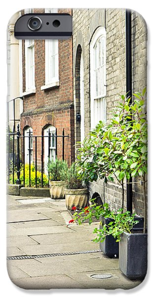 Ornamental iPhone Cases - Town houses iPhone Case by Tom Gowanlock