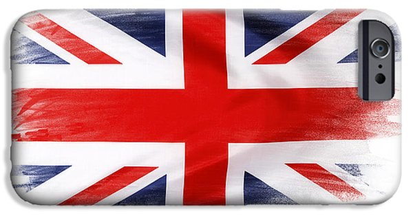 Flag iPhone Cases - Union Jack iPhone Case by Les Cunliffe