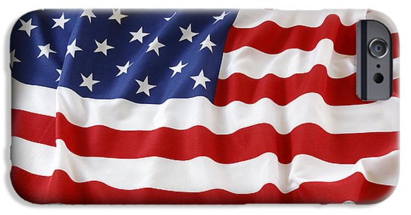 American Flag iPhone Cases - Usa iPhone Case by Les Cunliffe