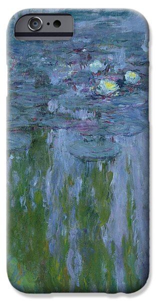 Garden iPhone Cases - Waterlilies iPhone Case by Claude Monet