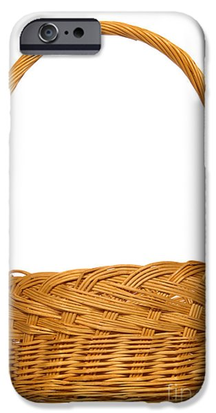 Basket iPhone Cases - Wicker Basket iPhone Case by Olivier Le Queinec