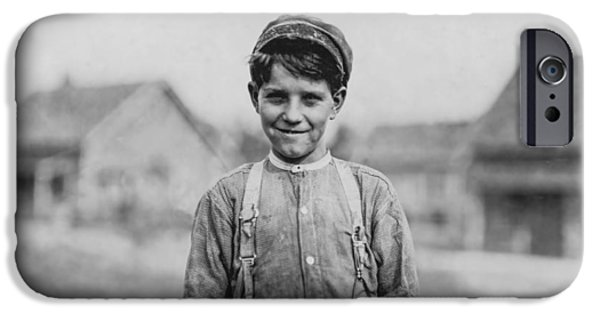 Labour iPhone Cases - 12 Year old Mill worker iPhone Case by Aged Pixel