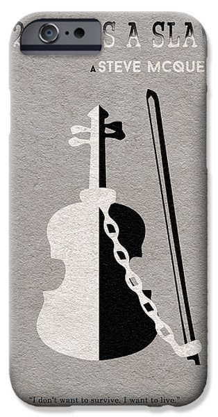 Steve Mcqueen iPhone Cases - 12 Years a Slave iPhone Case by Ayse Deniz