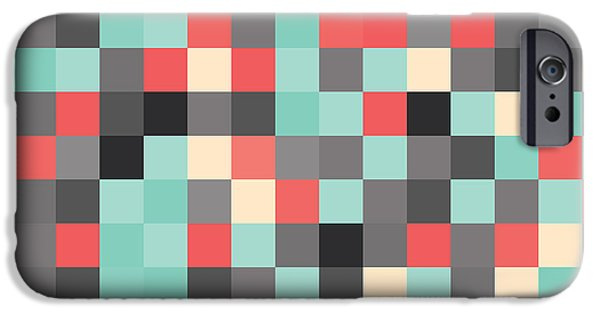 Geometric Artwork iPhone Cases - Pixel Art iPhone Case by Mike Taylor