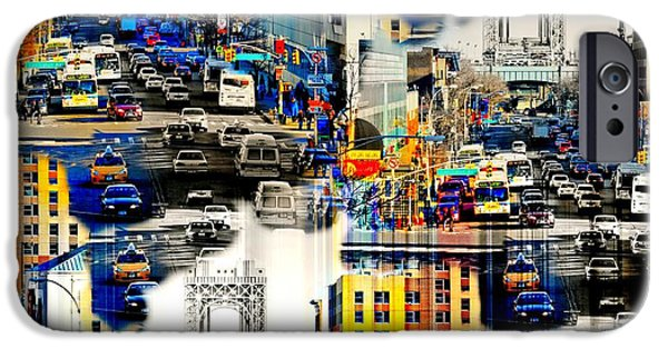 Harlem iPhone Cases - 125th Street at a Glance iPhone Case by Diana Angstadt