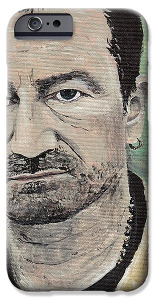 Bono Paintings iPhone Cases - #13-24 Bono iPhone Case by Dane Tate