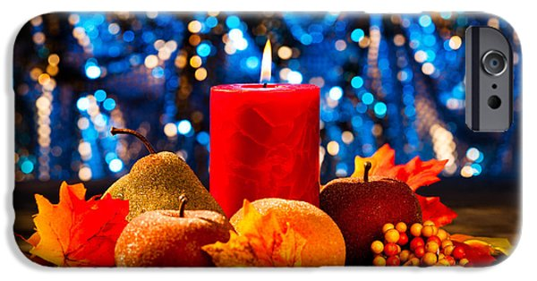 Reflection Harvest iPhone Cases - Autumn candles iPhone Case by Ulrich Schade