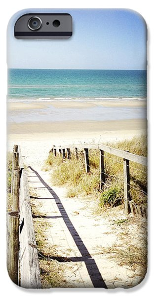 Beach iPhone Case by Les Cunliffe