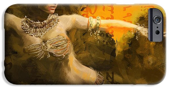 Moroccan iPhone Cases - Belly Dancer iPhone Case by Corporate Art Task Force