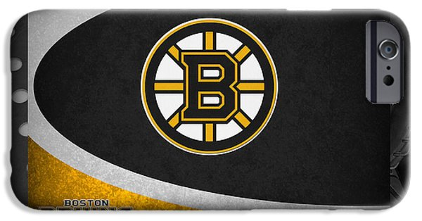 Recently Sold -  - Snow iPhone Cases - Boston Bruins iPhone Case by Joe Hamilton