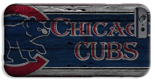 Chicago Cubs iPhone Cases - Chicago Cubs iPhone Case by Joe Hamilton