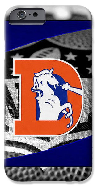 DENVER BRONCOS iPhone Case by Joe Hamilton