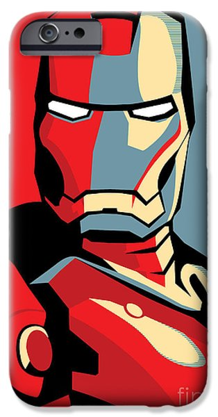 Famous Artist iPhone Cases - Iron Man iPhone Case by Caio Caldas