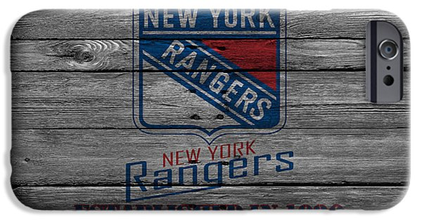 Recently Sold -  - Snow iPhone Cases - New York Rangers iPhone Case by Joe Hamilton