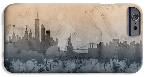 United iPhone Cases - New York Skyline iPhone Case by Michael Tompsett