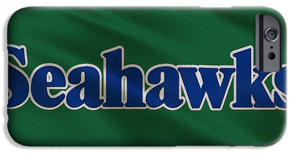 Seattle Seahawks iPhone Cases - Seattle Seahawks Uniform iPhone Case by Joe Hamilton