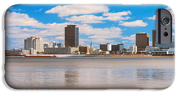 Baton Rouge iPhone Cases - Skyscrapers At The Waterfront iPhone Case by Panoramic Images