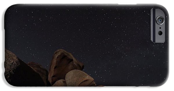Ursa Minor iPhone Cases - Stars In A Night Sky iPhone Case by Laurent Laveder