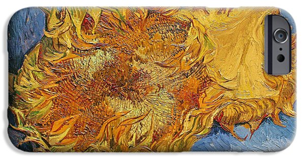 In Bloom iPhone Cases - Sunflowers iPhone Case by Vincent Van Gogh