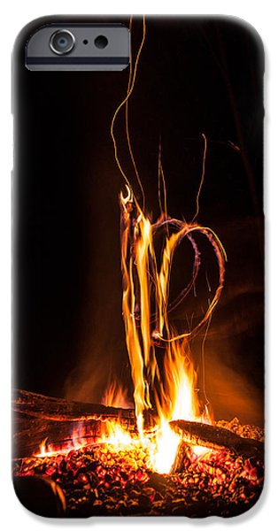 Fireworks iPhone Cases - The Campfire iPhone Case by Collective Memories