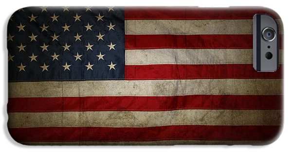 Nation Photographs iPhone Cases - American flag iPhone Case by Les Cunliffe