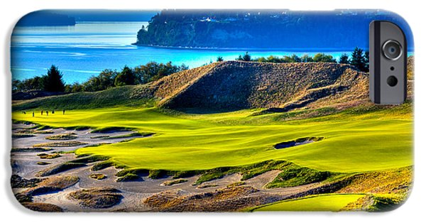 David Patterson iPhone Cases - #14 at Chambers Bay Golf Course - Location of the 2015 U.S. Open Tournament iPhone Case by David Patterson
