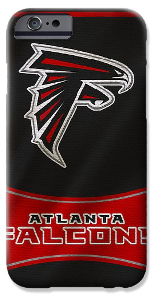 Falcon iPhone Cases - Atlanta Falcons Uniform iPhone Case by Joe Hamilton