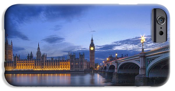 River View iPhone Cases - Big Ben and the houses of Parliament  iPhone Case by David French