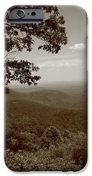 Tree Art Print iPhone Cases - Blue Ridge Mountains - Virginia iPhone Case by Frank Romeo
