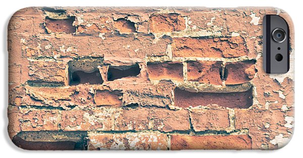 Stability iPhone Cases - Brick wall iPhone Case by Tom Gowanlock
