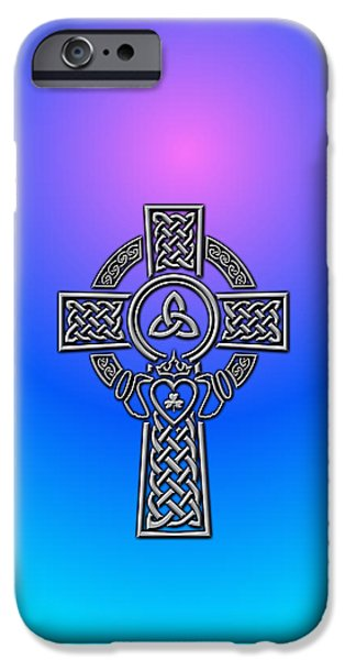 Celtic iPhone Cases - Celtic Cross iPhone Case by Ireland Calling
