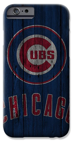 Barns iPhone Cases - Chicago Cubs iPhone Case by Joe Hamilton