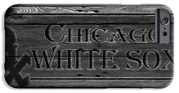 White Glove iPhone Cases - Chicago White Sox iPhone Case by Joe Hamilton