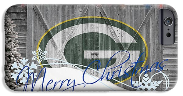 Santa iPhone Cases - Green Bay Packers iPhone Case by Joe Hamilton