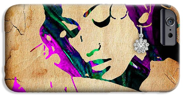 Stars iPhone Cases - Jennifer Lopez Collection iPhone Case by Marvin Blaine