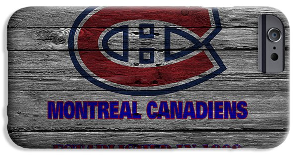 Montreal iPhone Cases - Montreal Canadiens iPhone Case by Joe Hamilton