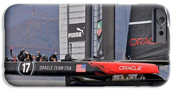 Oracle iPhone Cases - Oracle Americas Cup iPhone Case by Steven Lapkin