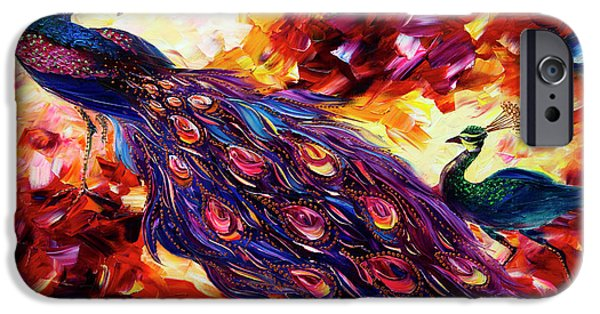 Print On Canvas iPhone Cases - Peacock iPhone Case by Willson Lau