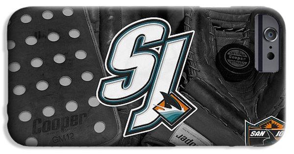 Shark iPhone Cases - San Jose Sharks iPhone Case by Joe Hamilton