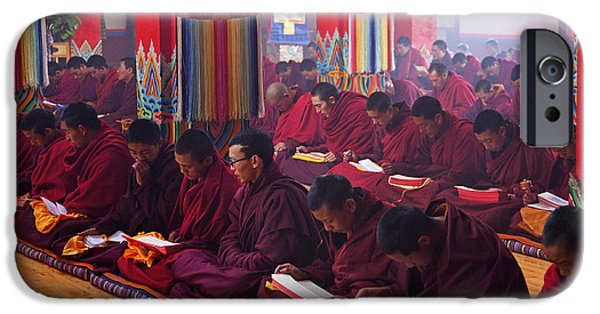 Tibetan Buddhism iPhone Cases - 141220p195 iPhone Case by Arterra Picture Library