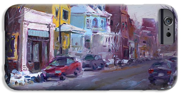 Snow Scene iPhone Cases - 149 Elmwood Ave SAVOY iPhone Case by Ylli Haruni