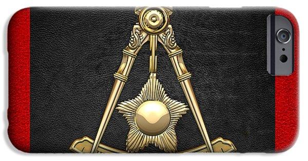 Elected iPhone Cases - 14th Degree Mason - Perfect Elu Masonic Jewel  iPhone Case by Serge Averbukh