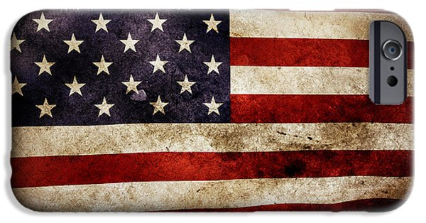 July iPhone Cases - American flag iPhone Case by Les Cunliffe