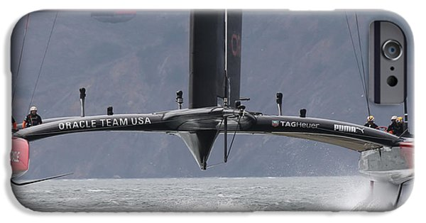 Oracle iPhone Cases - Americas Cup Oracle iPhone Case by Steven Lapkin