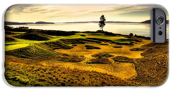 Us Open iPhone Cases - #15 at Chambers Bay Golf Course  iPhone Case by David Patterson
