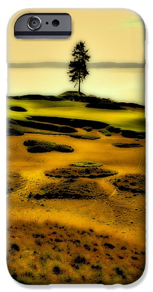 Us Open Photographs iPhone Cases - #15 at Chambers Bay - Location of the 2015 US Open iPhone Case by David Patterson